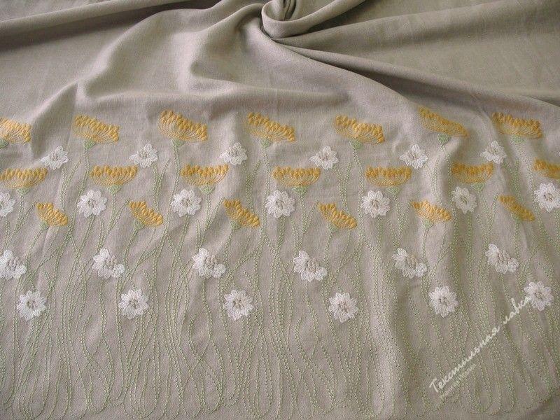 Шелковый батист с вышивкой 96